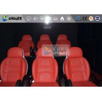 3 Seat 7D Cinema 7D Movie Theater Red Motion Rides With Pneumatic System Manufactures