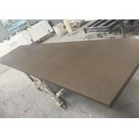 China US Standard Quartz Slab Countertops Quartz Cabinet Tops Brown Color on sale