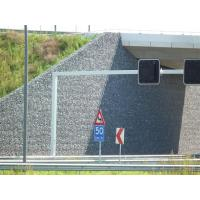 China Heavily Galvanized Welded Mesh Gabion / Hesco Barrier With Geotextile Cloth on sale
