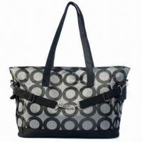 China Fashionable Microfiber Diaper Bag with Stroller Clips, Customized Designs, Colors and Sizes Accepted on sale