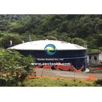 Corrosion Resistant Glass Lined Water Storage Tanks With Roof 0.25 - 0.40mm Double Coating Manufactures