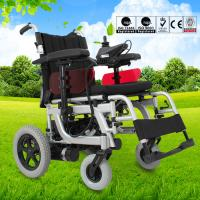 Lightweight Electric Folding Wheelchair Spray Steel Material DLY-6012 Manufactures