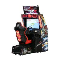 Game Center / Amusement Racing Arcade Machine Puzzle For Kids Stable System Manufactures