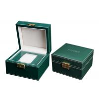 Empty Wooden PU Leather Watch Box MDF Wrapped Velvet Inside 295 X 85 X 40mm Manufactures