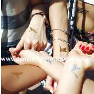 China custom flower design flash gold tattoo for women on sale