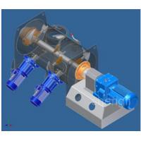 Fast Speed Powder Ploughshear Mixer / Blender With High Shear Agitator Manufactures