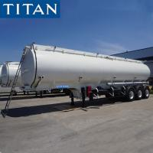 China TITAN Petroleum Mobile Fuel Tank Trailer Monoblock Tanker Trailers on sale