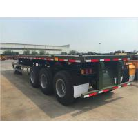 20ft 40ft 45ft Flatbed Container Trailer Gooseneck Air Bag Suspenison Manufactures