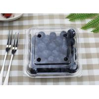 Plastic Blueberry box, Disposable fruit container Clear PET Manufactures