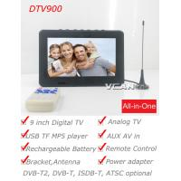 China DTV900-DVBT2 9 inch Digital TV Analog TV USB TF MP5 player AV in Rechargeable Battery on sale