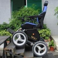 China 4x4 all terrain power chair, max. 45-degree climbing ability on sale