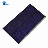 9V 1.7W solar panel photovoltaic Cell ZW-15085 chinese solar panel price for solar phone charger Manufactures