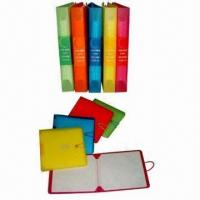 12-Disc CD and DVD Wallets with Elastic Closure and Metal Button Manufactures