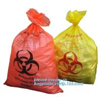 China disposable autoclave sterilization biohazard bags, Heavy duty safety plastic biohazard infectious waste bag medical wast on sale