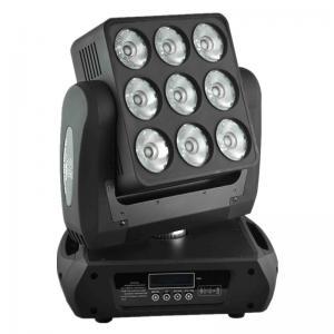 High Brithness 9 X 12 W RGBW LED Moving Head Light Wash Sharpy Beam Matrix Lights Manufactures