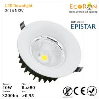 ce rohs approved ac100-277v led lights ceiling 10w 20w 30w 40w recessed cob downlight Manufactures