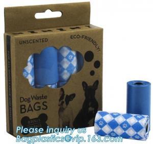 Custom Printed Biodegradable Pet Dog Disposal Poop Waste Bag, Pet Waste Bags Biodegradable Pet Dog Poop Bag, bagplastics Manufactures