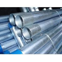 End Inside Threaded Galvanized Steel Pipe , Galvanized Steel Water Pipe Manufactures