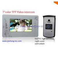 "China Wired 7"" TFT Color Video Door Phone, waterproof camera on sale"