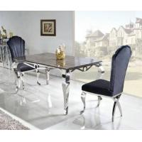 2011 New Style Hot Sale Marble Stainless Steel Dining Table Manufactures