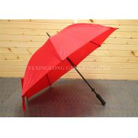 Nylon Fabric Red Windproof Golf Umbrella With Adjustable Back Shoulder Straps