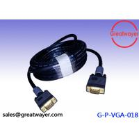Gold Plated Video Graphics Array HD15pin 3+6  AWM Wiring Diagram , Vga Connector Cable Manufactures