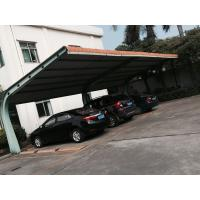 4 sets Small Cars Parking Shed Garage Steel Frame With Red Arc Shape Roof Top Manufactures