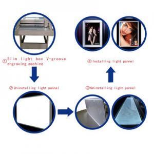Plexiglass scrolling light box 3D V groove making machine Manufactures