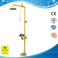 SH713BSF-Pedaled shower & eyewash station,SS304,combination foot operated type for sale