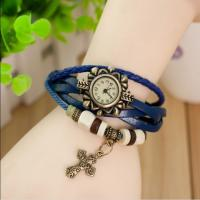 Leather Strap Electronics Gift Watch Vintage For Ladies / Women Manufactures