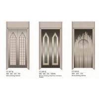 China Passenger Elevator Spare Parts SS Silver Automatic Elevator Doors Center Opening Type on sale