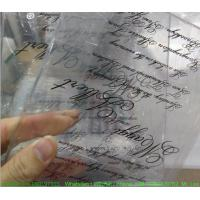 Custom Weeding Invitation Acrylic Glow Sign Board With Silk Screen Printing Manufactures