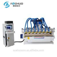 Cnc Router Rotary Axis CNC Wood Carving Machine 2.2KW 6 Heads Indian God Statue Manufactures
