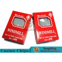 150g / Pcs Texas Holdem 100% Plastic Playing Cards For Casino Gambling Games Manufactures