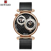 Chinese Two Movement Stainless Steel Caseback Watch , Mens Waterproof Watches Alloy Case Manufactures