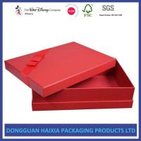 Red Cover Decorative Gift Boxes With Lids Glossy And Matt Lamination Surface Manufactures