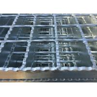 Galvanized Serrated Steel Grating Anti Slip Welded Steel Silver / Black Color Manufactures