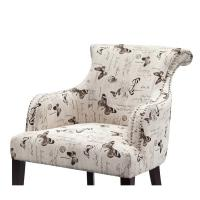 Rosy Rollback Upholstered Accent Chairs Plywood Frame With Birch Wood Legs Manufactures