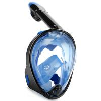 Quality Liquid Silicone + PC Snorkeling Full Face Diving Mask SEA Vision 180 degree View for sale
