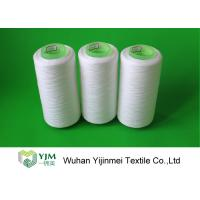Pure White TFO Plastic Cone Spun Polyester Sewing Thread 20s / 2 Packing By PP Bag Manufactures