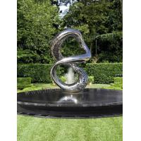 Polished Hollowed Out Modern Outdoor Sculpture Water Feature Fountain Decor Manufactures