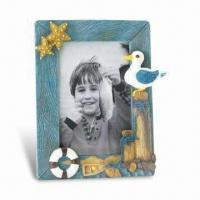 Hand-painted Photo Frame, Made of Polyresin, Meets EU En71 and US ASMT Standards Manufactures