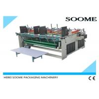 Semi Automatic Carton Box Making Machine Sticking Function Pressure Type 1800mm Size