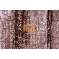 Polyester Warp Knitting Striped Upholstery Fabric With Soil Release Function Manufactures