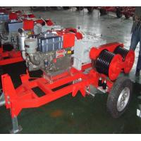 Honda Engine 5 Ton Double Capstan Winch Cable Pulling Machine For Power Construction Manufactures