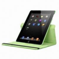 Quality Rotating Leather Covers for New iPad, Includes Screen Protector and Stylus for sale