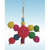 natural vine parrot toys 11 inches solar system in multiple color for cockatiel Manufactures