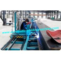 Corrugated Web Automatic H Beam Welding Line With Gas Shielded Welding Machine Manufactures