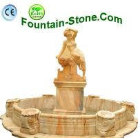 Quality Fountain-Stone.Com supply Yellow Natural Limestone Wall Fountain for sale
