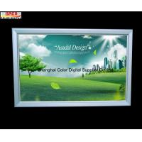 China Silver Advertisement Snap Open Slim LED Light Box for Cafe , Supermarket on sale
